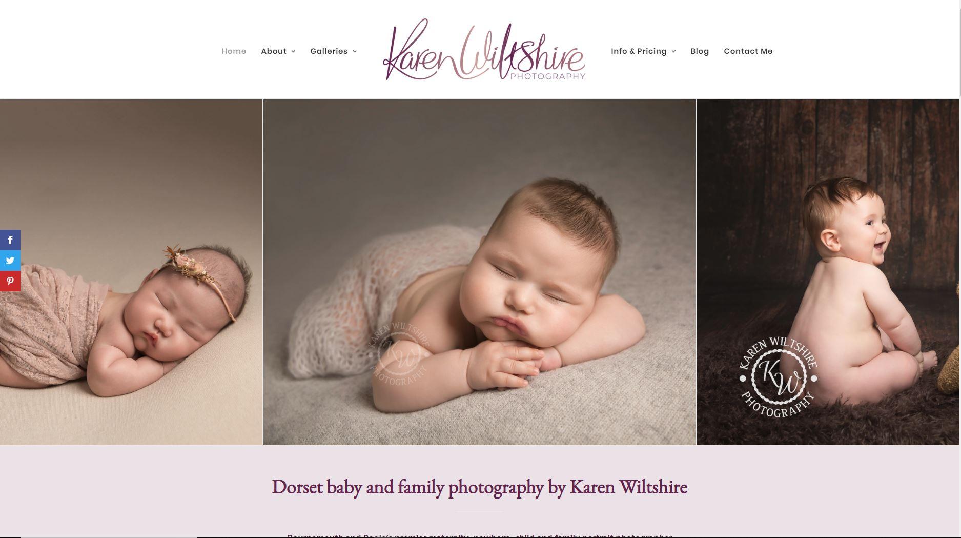 Websites for photographers - Aperture Design